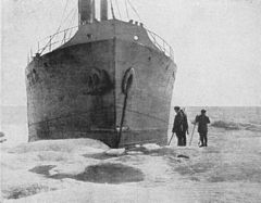 P28b The bow of the Correct, showing ice-skin near the water.jpg