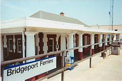 "1999 photo of Port Jefferson LIRR station, which changed the name of the community formerly known as ""Echo, New York"""