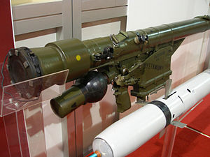 Grom (missile) - PZR Grom missile with launcher