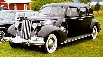 Packard Super Eight - Image: Packard 1705 Super Eight Touring Limousine 1939