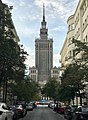 Palace of Culture and Science seen from Nowogrodzka Street, Warsaw, Poland.jpg