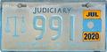 Palau license plate X Judiciary 2020 col.png