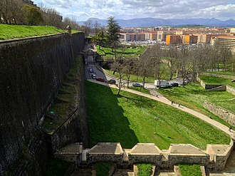 Siege of Pamplona (1813) - The old Pamplona walls are still preserved.