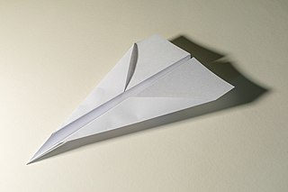 Paper plane Toy aircraft made of folded paper