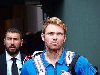 Bjorn Fratangelo - Image: Paris FR 75 open de tennis 25 5 16 Roland Garros Bjorn Fratangelo 01