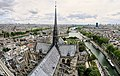 Paris panorama from the top of the Notre-Dame Cathedral, 28 April 2018.jpg
