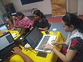 Participants involved in editing at Jalbodh workshop, Pune.jpg