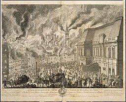 Partie de l'incendie de la Ville de Rennes Musée de Bretagne 956.2.68