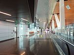 Pathway to arrivals at Hamad Airport, May 2014 (3).jpg