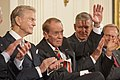 Paul Harvey, G.V. Sonny Montgomery, General Richard B. Myers and Jack Nicklaus at the Presidential Medal of Freedom Ceremony.jpg