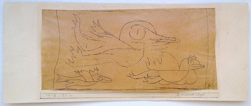 File:Paul Klee, Reisende Vögel (travelling birds), catalogue raisonné 1705, 1917 21a, photo 1.jpg