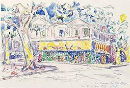 Parfait La Maison Jaune Peinte Par Paul Signac En 1933, En Hommage à Van Gogh