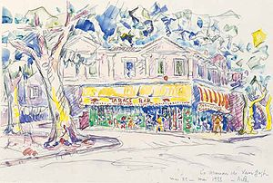 The Yellow House - Paul Signac: The House of Van Gogh, 1932. Watercolour, private collection.