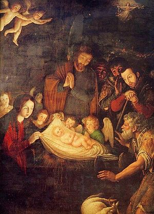 Pedro García Ferrer - Adoration of the Shepherds, altarpiece of the Chapel of the Kings in Puebla Cathedral, by Pedro García Ferrer