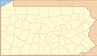 Christiana, Pennsylvania - Image: Pennsylvania Locator Map