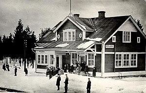 Saint Petersburg–Hiitola railway - The Petäjärvi railway station in the 1930s