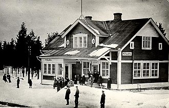 Saint Petersburg–Hiitola railway - The Petäjärvi railway station in the 1930s