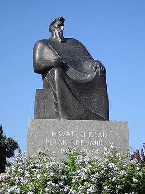 Peter Krešimir IV of Croatia - Statue of Petar Krešimir IV in Šibenik