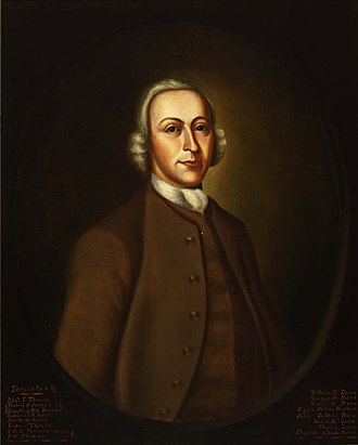 Peter Harrison (architect) - Mid-nineteenth century portrait of Harrison done from a Nathaniel Smibert original from 1756