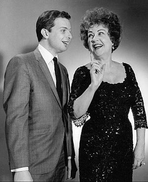 Peter Nero (left) was the first Jazz musician to win the award. Peter Nero Ethel Merman Bell Telephone Hour 1964.JPG