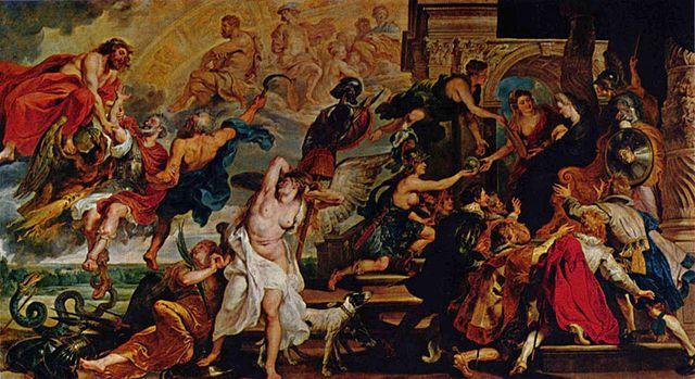 Триумф Генриха IV. Холст, масло. 394 × 727 см. Лувр