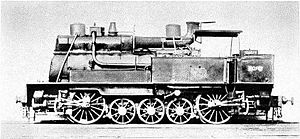 "Jules Petiet - One of Petiet's ""Camels"" – Crampton-inspired tank locomotive"