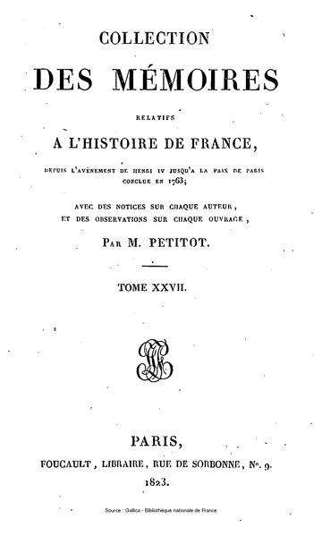 File:Petitot - Collection complète des mémoires relatifs à l'histoire de France, 2e série, tome 27.djvu