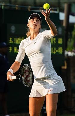 Petra Martic during her first round win against Anna Tatishvili at Wimbledon