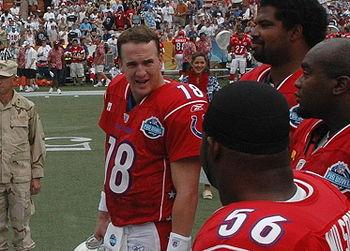 American Football player Peyton Manning talks ...