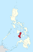 Map of the Philippines highlighting the Negros Island Region