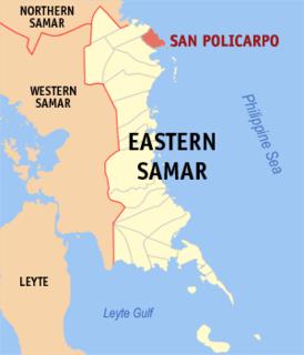 San Policarpo, Eastern Samar Municipality in Eastern Visayas, Philippines