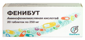 Phenibut - Olainfarm's pharmaceutical phenibut sold in Russia.