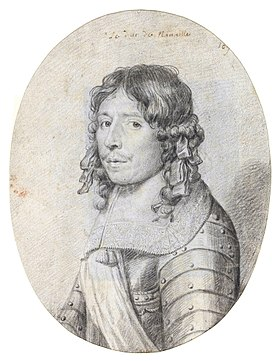 Philippe de Montaut-Bénac, duc de Navailles.Portrait anonyme, Paris, BnF, département des estampes, XVIIesiècle.
