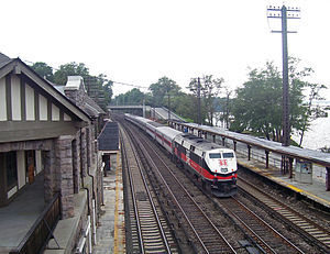 Philipse Manor (Metro-North station) - A north-bound express train passes through the station