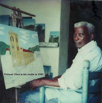 Philomé Obin - Philomé Obin within his studio in 1983.
