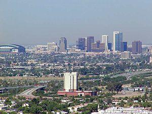 Skyline von Phönix Arizona USA