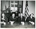 Photograph of Mr. Dennis Fitzgerald, Lt. General Lucius D. Clay, the Honorable Mr. Herbert Hoover, and Brigadier General William H. Draper.jpg