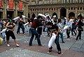 Piazza Maggiore pillow fight 2008.jpg