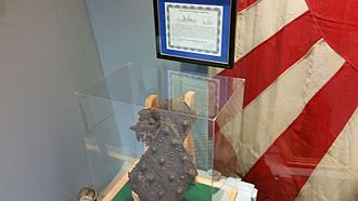 USS Arizona salvaged artifacts - Steel from the Battleship Arizona
