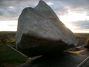 Tandil - Replica of the Piedra Movediza installed in 2007