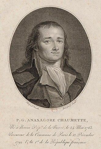 Hébertists - Image: Pierre Gaspard Chaumette