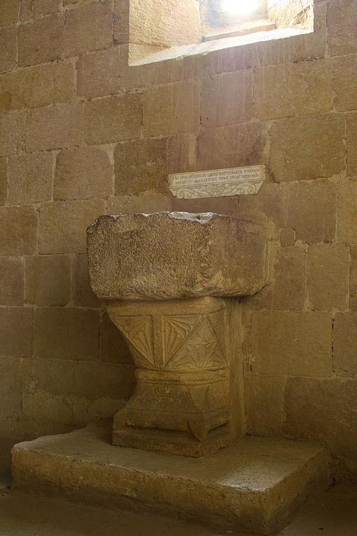Pieve Corsignano fonte battesimale