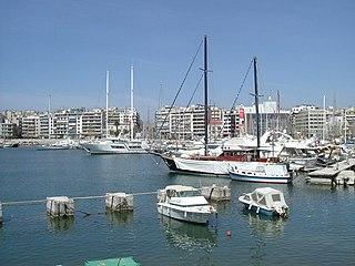 Bay of Zea Port in Piraeus, Greece
