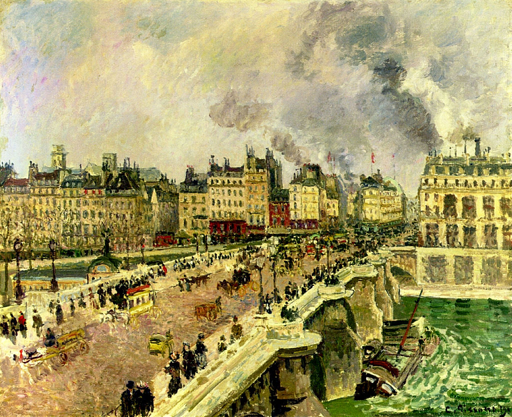 Pissarro The-pont-neuf-shipwreck-of-the-bonne-mere-1901