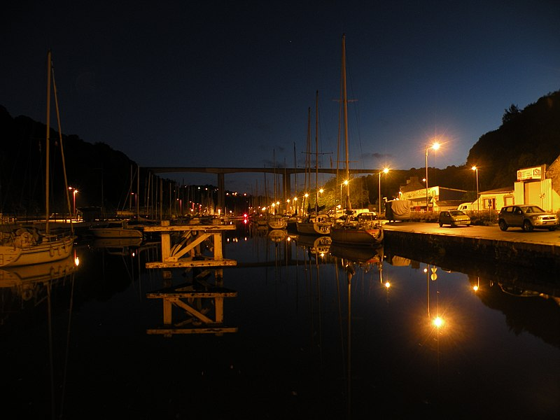 Le port du Légué entre Plérin et Saint-Brieuc.