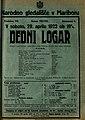 Plakat za predstavo Dedni logar v Narodnem gledališču v Mariboru 29. aprila 1922.jpg