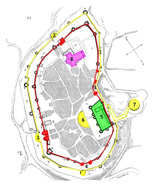 Plan Du Centre Ville De Guerande