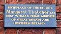 Plaque, maison natale de Margaret Thatcher.JPG