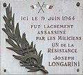 Plaque en hommage à Joseph Longarini, angle rues Duquesne et Duguesclin (Lyon).jpg