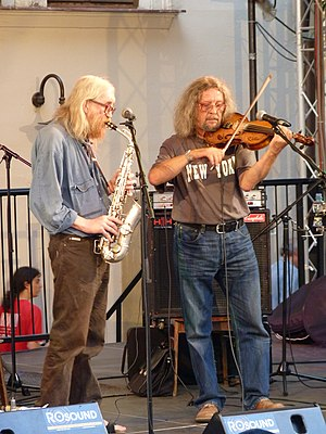 The Plastic People of the Universe - Vratislav Brabenec (on the left) and Jiří Kabeš (2010)